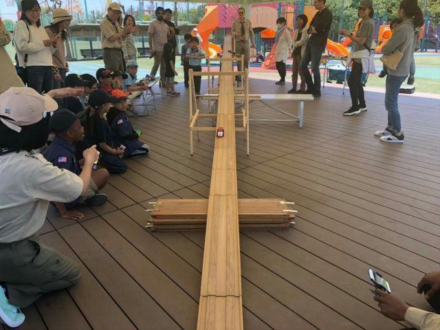 垂水区舞子のボーイスカウト神戸第2団 インターナショナルスクールカナディアンアカデミーのボーイスカウトと交歓会