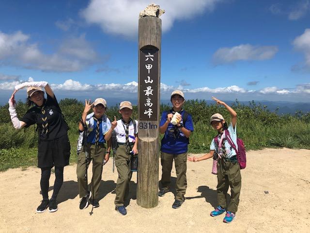 ボーイスカウト神戸第2団 ボーイ隊 六甲山頂