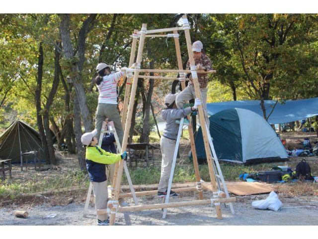 垂水区舞子のボーイスカウト神戸第2団 ボーイ隊 四脚信号灯制作